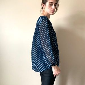 Skies are Blue patterned Anthropologie blouse